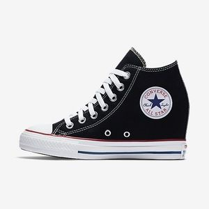 Converse Chuck Taylor Lux Leather Wedge Sneakers